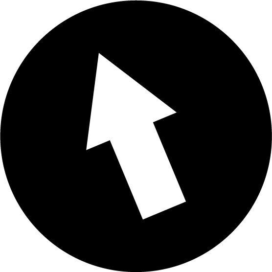 PCのマウスポインタのアイコンイラスト(丸・白黒)