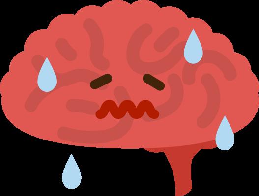 炎症している脳のイラスト2
