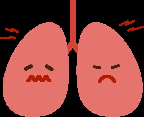 肺のイラスト(炎症)
