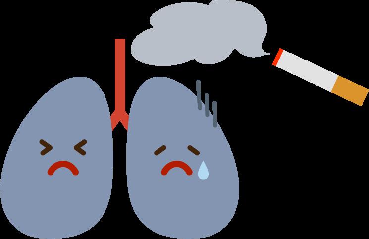 肺のイラスト(タバコ)