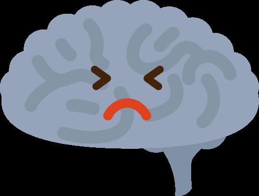 不健康な脳のイラスト2