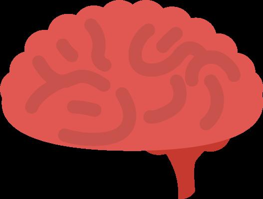 炎症している脳のイラスト1