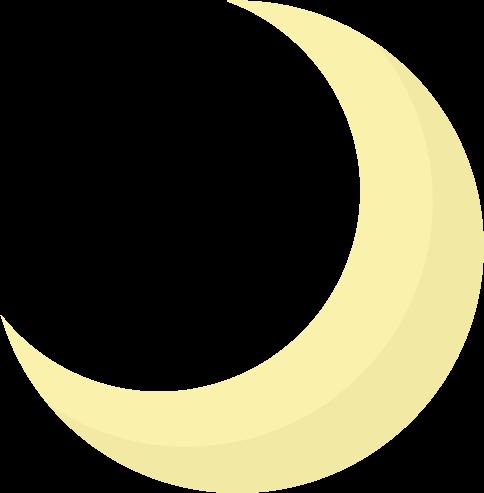 月のイラスト(三日月)