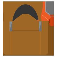 カバンに入った折り畳み傘