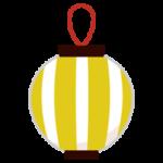 祭りの提灯のイラスト(黄縞)