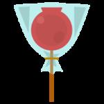 りんご飴のイラスト(袋入り)
