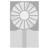 ハンディ扇風機のイラスト(グレー)