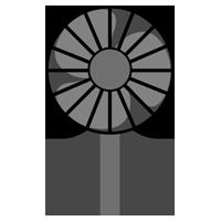 ハンディ扇風機のイラスト(黒)