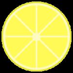 輪切りのレモンのイラスト