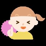 サムズアップする女の子のイラスト