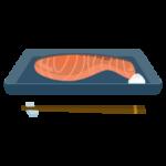 焼き鮭(切り身)のイラスト2
