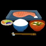 焼き鮭定食のイラスト1
