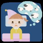 不眠症の女の子のイラスト2