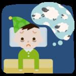 不眠症の男の子のイラスト2