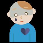 心の病気の若い男性のイラスト