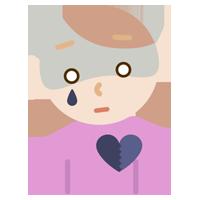 心の病気の若い女性のイラスト