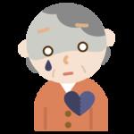 心の病気の高齢者の女性のイラスト