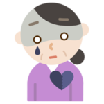 心の病気の中年の女性のイラスト