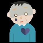 心の病気の中年の男性のイラスト