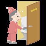 トイレに行く高齢者の女性のイラスト1