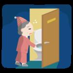 トイレに行く高齢者の女性のイラスト2