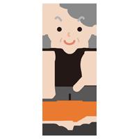 筋肉質な高齢者の女性