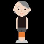 痩せ型の高齢者の女性のイラスト