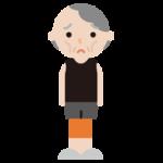 痩せ型の高齢者の女性のイラスト2