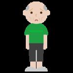 痩せ型の高齢者の男性のイラスト2