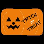 ハロウィンのパンプキンのイラスト「Trick or Treat」