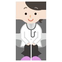 若い女性の医者のイラスト