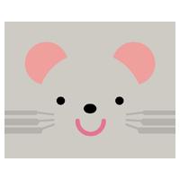 ネズミの顔のイラスト(干支)
