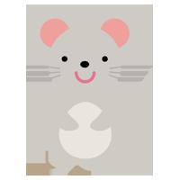 ネズミの全身のイラスト(干支)