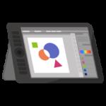 液晶タブレットのイラスト(アプリ画面)