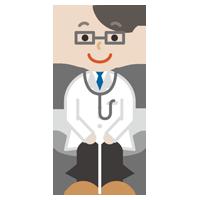 若い男性の医者のイラスト