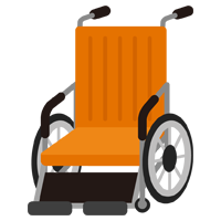 車椅子のイラスト(オレンジ)