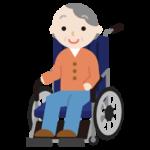車椅子に乗る高齢者の女性のイラスト