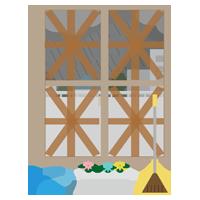 台風対策のイラスト