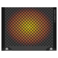 パネルヒーターのイラスト(電源オン)
