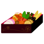 重箱に入ったおせち料理のイラスト