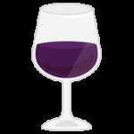 グラスワインのイラスト(赤)