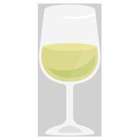 グラスワインのイラスト(白)