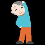 体操をする高齢者の女性のイラスト