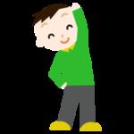 体操をする男の子のイラスト