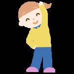 体操をする女の子のイラスト