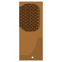 木製のヘアブラシのイラスト