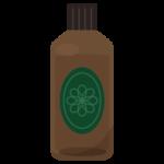 瓶に入ったスキンケアオイルのイラスト