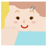 化粧をした女性のイラスト(キラキラ)