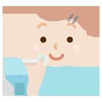 スキンケアをする若い女性のイラスト(化粧水)