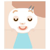 パックをする若い女性のイラスト2